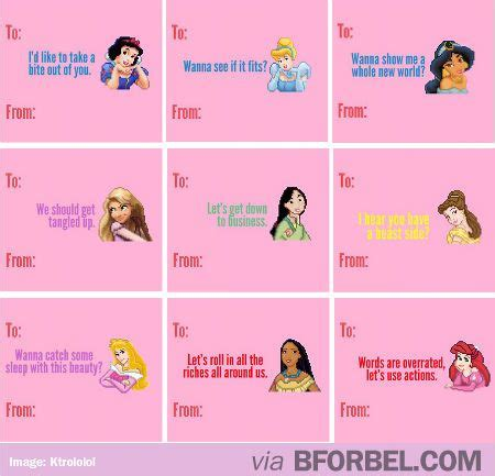 dirty disney princess valentine cards funny pinterest