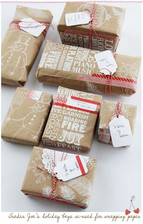 Gift Bags From Wrapping Paper - wrapping ideas brown paper obsession toffee bits