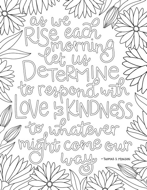 lds coloring pages kindness just what i squeeze in