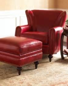 red leather chair with ottoman red leather ottomans foter