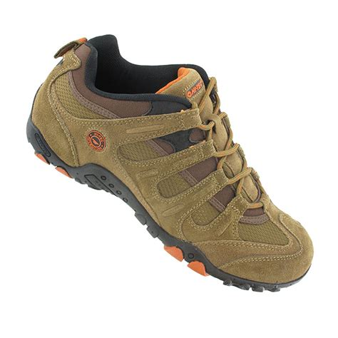 walking sports shoes hi tec quadra classic mens brown walking hiking sports
