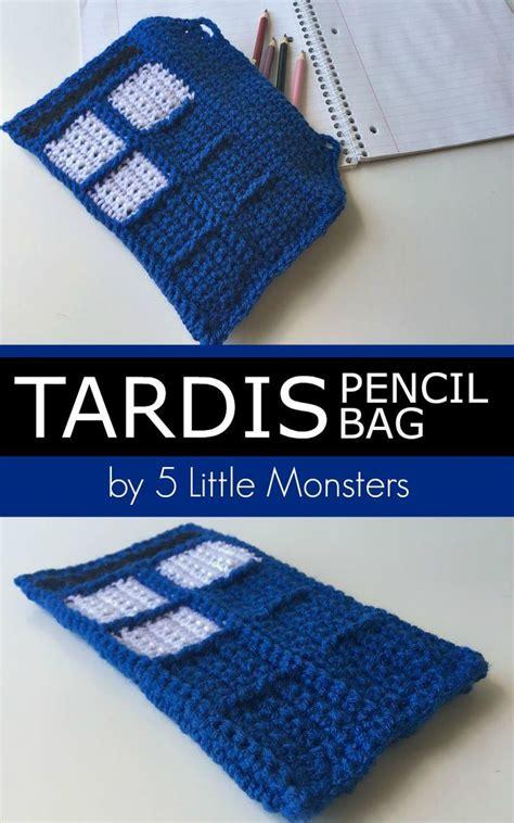 crochet tardis bag pattern tardis pencil bag moogly community board pinterest
