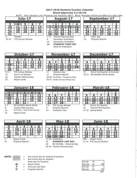 Charles County Schools Calendar 2017 2018 Student Calendar Charles S Rushe