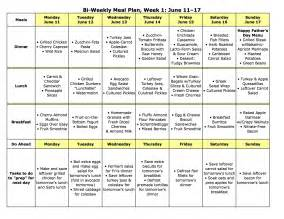 at home diet plans meal plan monday june 11 24 meals menu and weekly meal