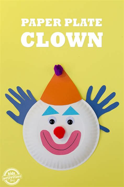 Clown Paper Plate Craft - 17 best images about crafts on 5x7 envelopes
