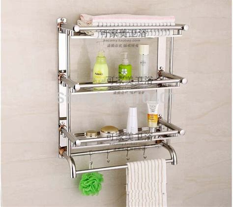 metal wall mounted shelves cheap bathroom colour bathroom wholesale and retail promotion new stainless steel wall