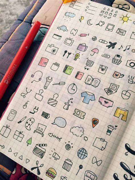 doodle agenda icons and symbols for your bullet journal planner bujo