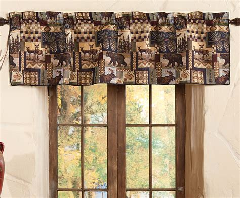 cabin curtains woodland cabin valance