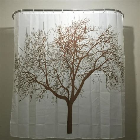 brown tree shower curtain creative home decor polyester brown tree waterproof shower