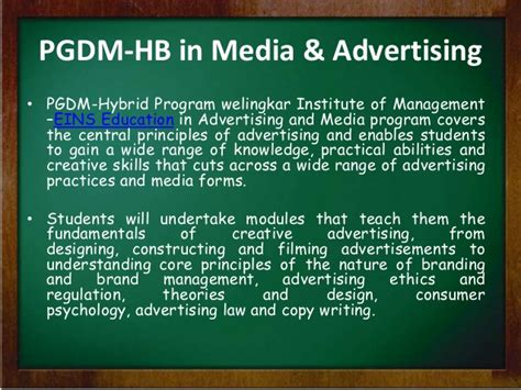 Mba Hybrid Programs Welingkar by Distance Learning Mba In Media Advertising From Eins