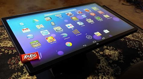Tablet Coffee Table Android Powered Multitouch Coffee Table Is One
