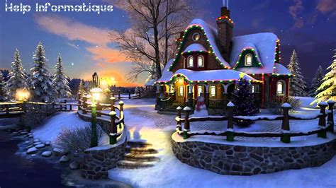 christmas live themes for windows 7 hd white christmas 3d screensaver wallpaper youtube