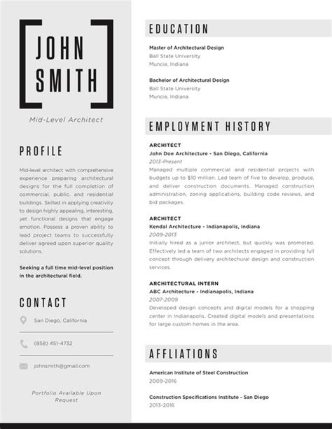 Architecture Resume by The Top Architecture R 233 Sum 233 Cv Designs Archdaily