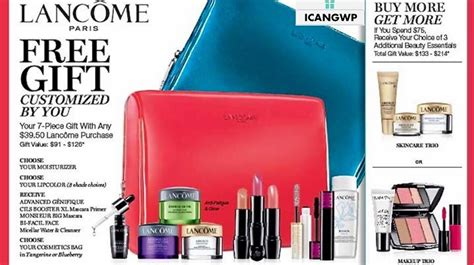 An Awesome Gift With Purchase From Lancome At Nordstrom by Bloomingdales Gift With Purchase Lamoureph