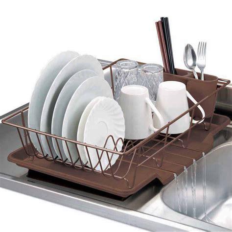 Drainer For Sink by Home Basics 3 Kitchen Sink Dish Drainer Set Bronze