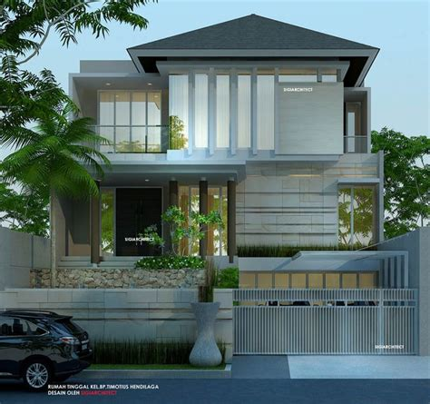 desain rumah pinterest desain rumah 3 lantai minimalis tropis gading griya