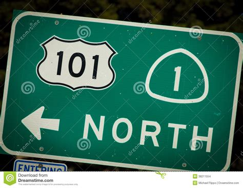 Pch Sign - interstate 101 and pch highway sign from california stock images image 38211554