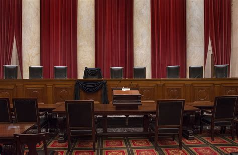 Justice Court Search Justice Antonin Scalia S Supreme Court Chair Draped In Black Time