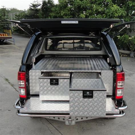 Ute Drawer Systems by Aluminum Checker Plate Drawer Systems 400 X 1500