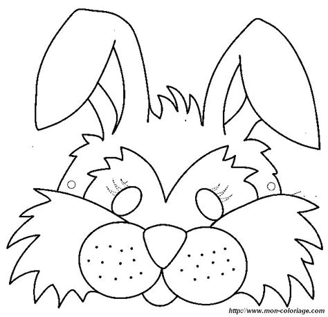 coloring page of rabbit face free rabbit face mask coloring pages