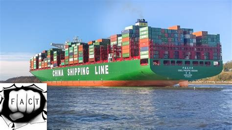 world biggest ships in the world top 10 largest container ships in the world youtube