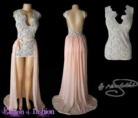 Mini Low Back Bow Lace Dress Pesta Putih Lengan Panjang Import Mu hi lo white matric dress with a detachable flowy chiffon creating a