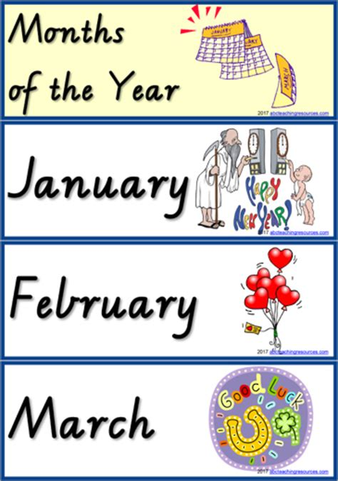 new year months months of the year vic modern precursive abc teaching resources