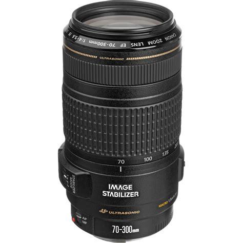 canon lens canon ef 70 300mm f 4 5 6 is usm lens 0345b002 b h photo