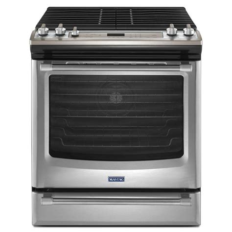 maytag aqualift 5 8 cu ft gas range with self cleaning