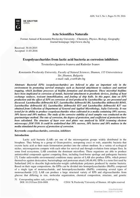 Corrosion Specialist Cover Letter by Research Paper On Corrosion 28 Images Exopolysaccharides From Lactic Acid Bacteria As