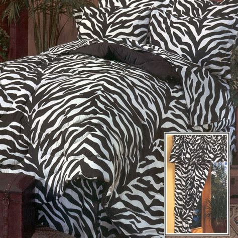 Zebra Print Bedding Sets 8pc Black White Zebra Print Comforter Sheet Set