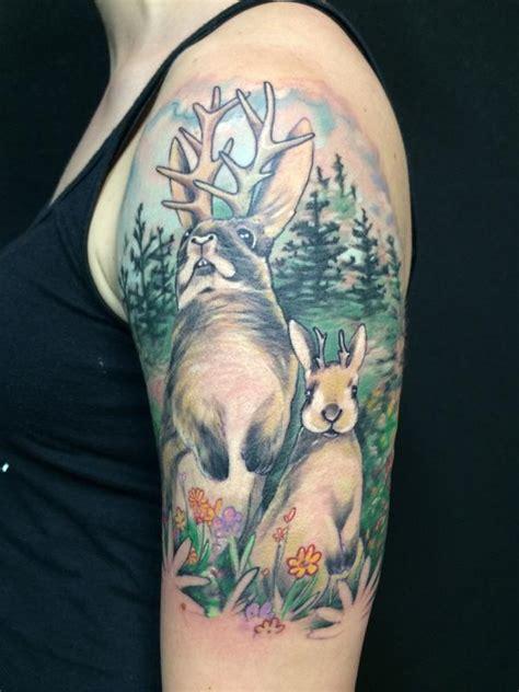 jackalope tattoo instagram jackalope by jon highland tattoos