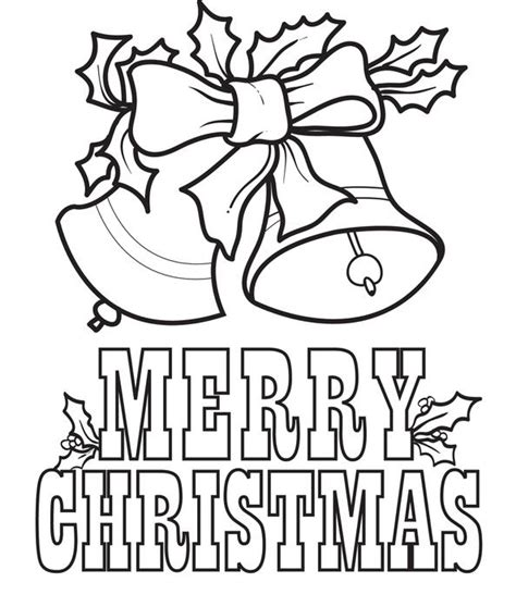 Free Printable Merry Christmas Bells Coloring Page For Merry Words Coloring Pages