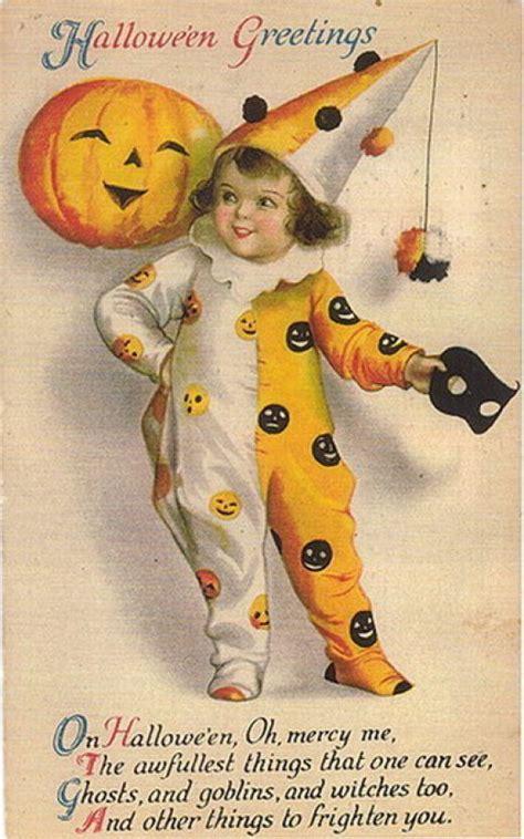 Printable Halloween Vintage Postcards | free vintage halloween postcards images