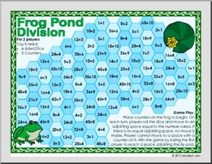 easy printable division games frog pond frog themed division game homeschool math