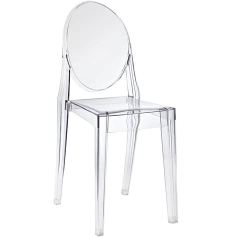 Philippe Starck Ghost Chair by Philippe Starck Style Ghost Side Chair