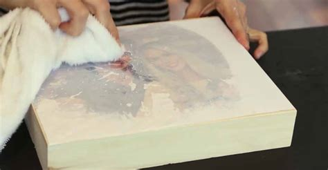 diy mod podge on wood how to transfer a photo to wood