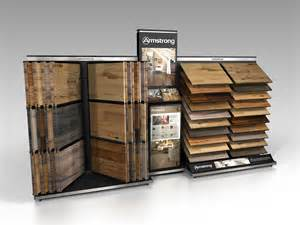 armstrong retail display wing waterfall wood combo