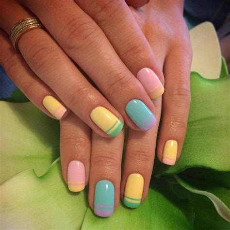 multi colored nails 25 best ideas about colorful manicure on
