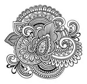 Galerry simple flower coloring pages free