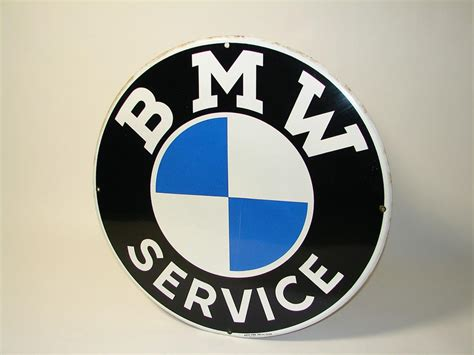 bmw dealership sign extremely rare 1963 bmw service single sided porcelain