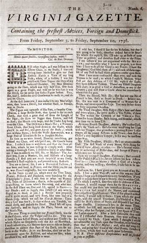 revolutionary war newspaper template early american newspapering the colonial williamsburg