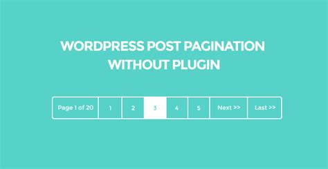 wordpress layout explained wordpress post pagination without plugin has been