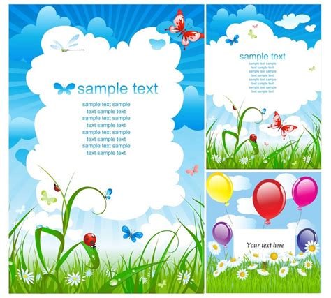 birthday invitation card design vector free download summer cards vector 2 vector graphics blog