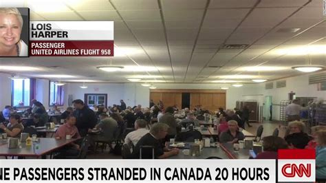 Mba Md Programs In Canada by Diverted Flight Strands Passengers In Barracks Cnn