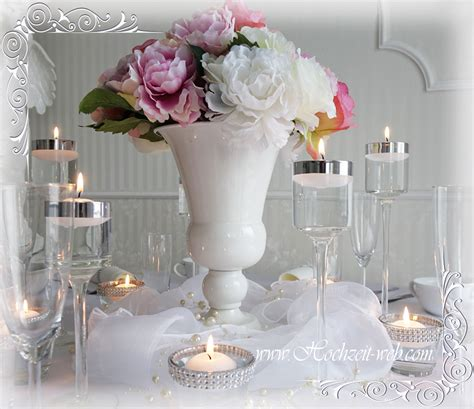 Wei E Hochzeitsdeko by Elegante Und Extravagante Vasen F 252 R Tischdekoration