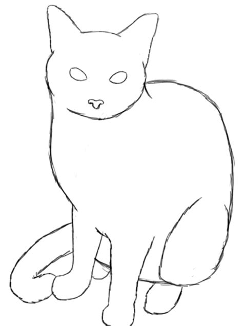 doodle cat drawing how to draw a cat draw central