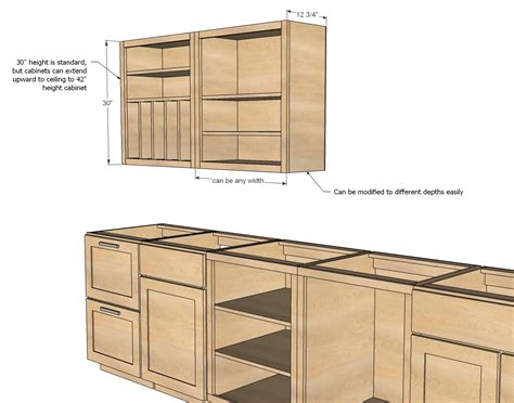 diy cabinets ana white wall kitchen cabinet basic carcass plan diy