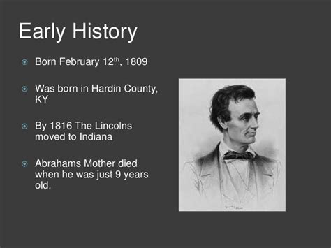 year lincoln was born abraham lincoln ppt 2