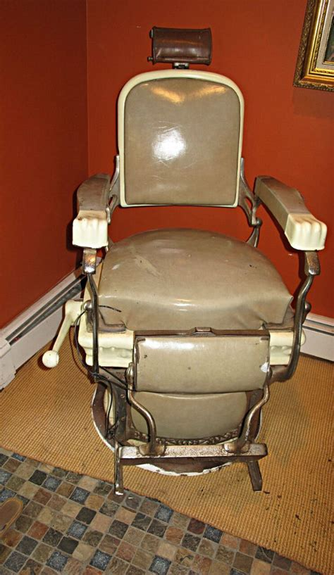 Antique Koken Barber Chair For Sale by Matching Pair Of Early 1900 S Koken Barber Chairs For Sale